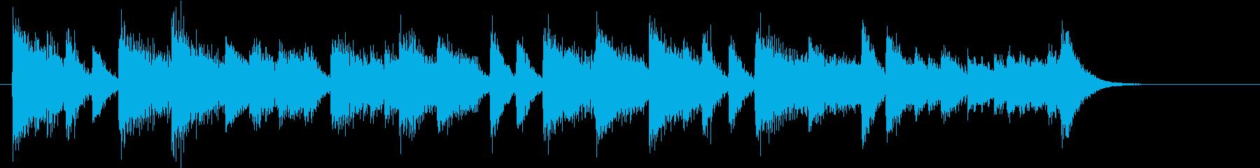 童謡・紅葉モチーフのピアノジングルBの再生済みの波形
