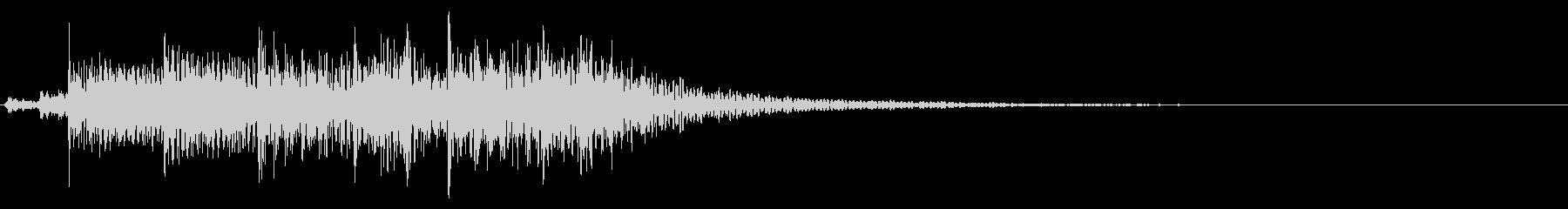 インパクトあるロックなジングル18の未再生の波形