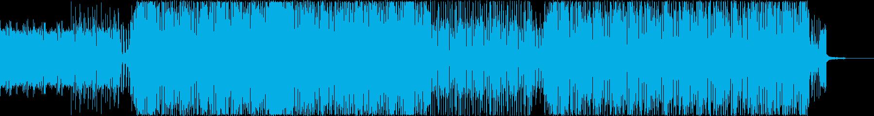 ギターが軽快な4つ打ちノリノリロックの再生済みの波形