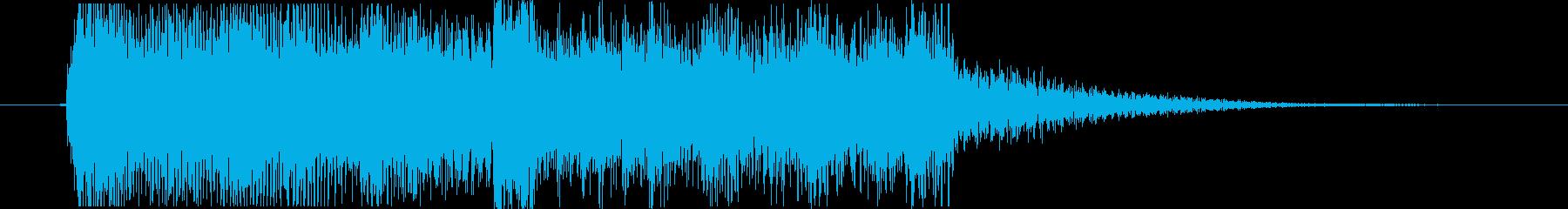 エレピとストリングスによるジングルの再生済みの波形