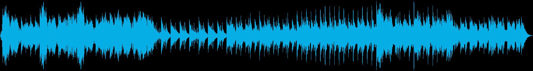 ピアノ・フルートがメインの儚いBGMの再生済みの波形