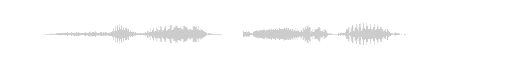 スリーカード(女性)の未再生の波形