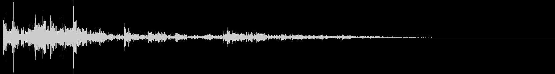 【生録音】ゴミの音 14 放り捨てるの未再生の波形