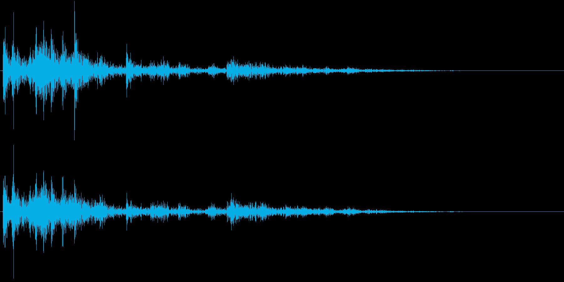 【生録音】ゴミの音 14 放り捨てるの再生済みの波形