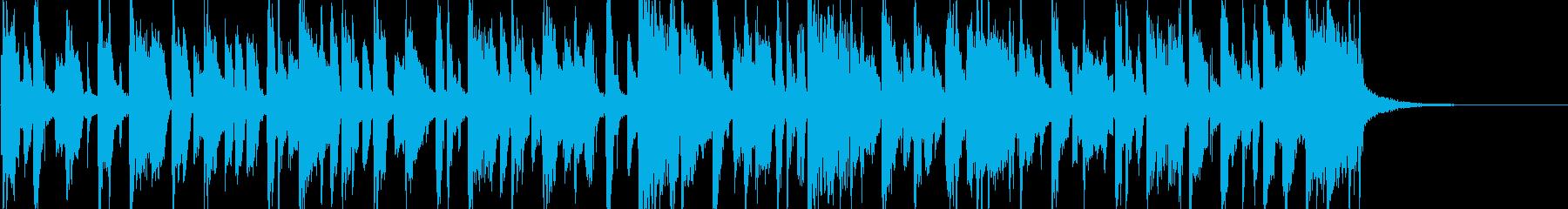 哀しい雰囲気の軽快なポップジングルの再生済みの波形