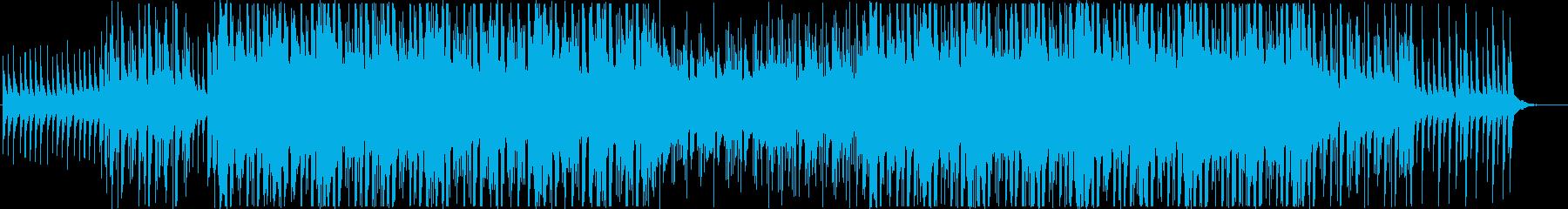 アジアン風で暖かいトロピカルハウスの再生済みの波形
