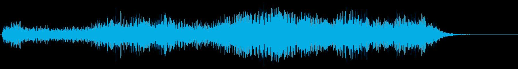 光線、レーザー、ビーム(シャー/ピャー)の再生済みの波形
