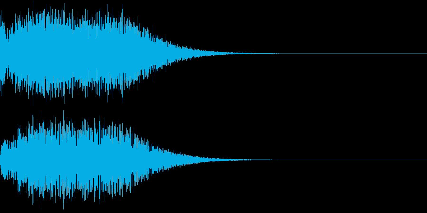 光 キュイン 目立つ カットイン 06の再生済みの波形
