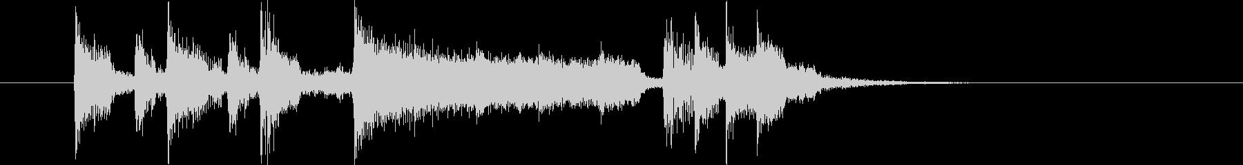 勢いとドキドキ感のギターシンセサウンドの未再生の波形