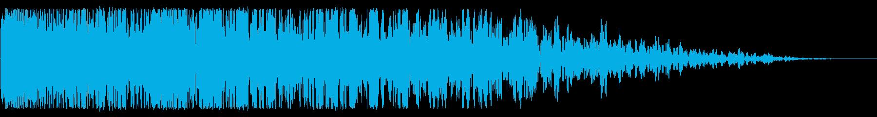 中粒の爆発、重い破片の再生済みの波形