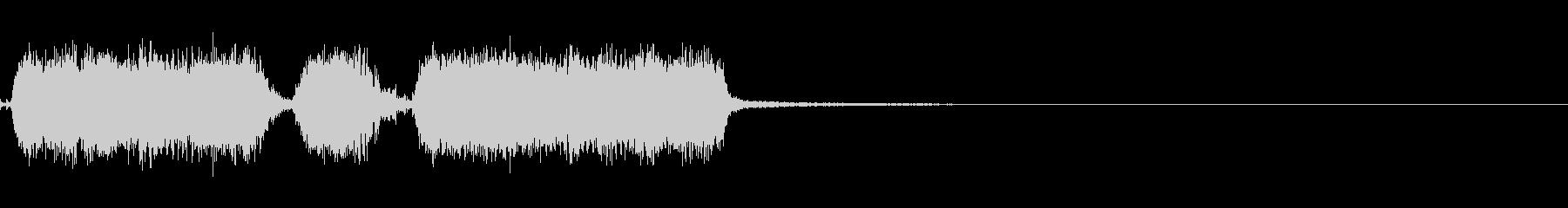 エレキ一本によるキメのジングルの未再生の波形