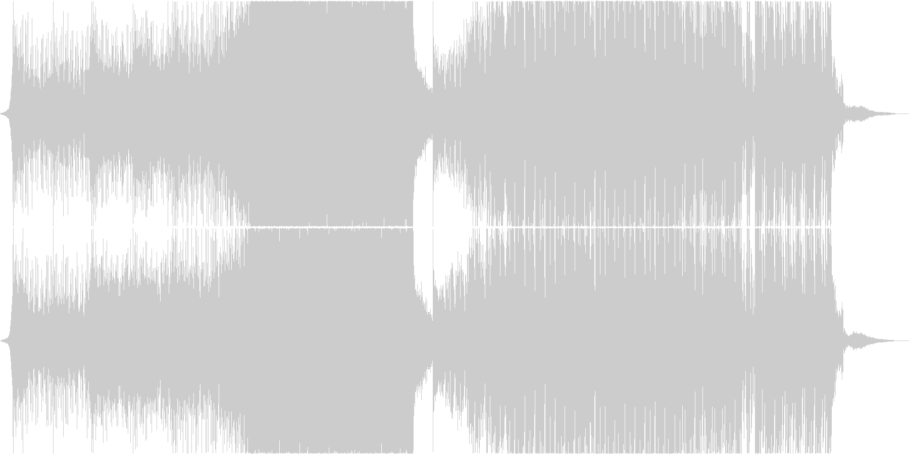 カノン 結婚式 アレンジ EDM ハウスの未再生の波形