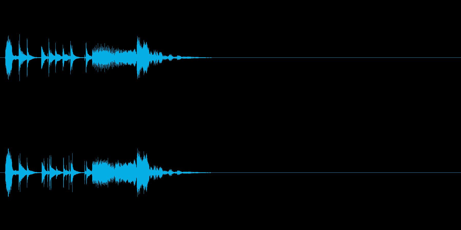 コミカル/おちゃらけものジングルの再生済みの波形