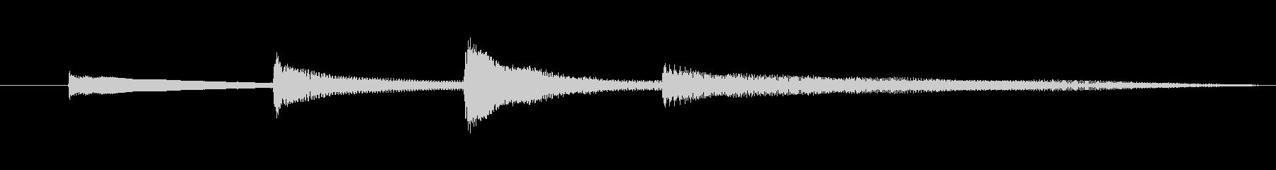 【録音】放送終了音(アコギ)の未再生の波形