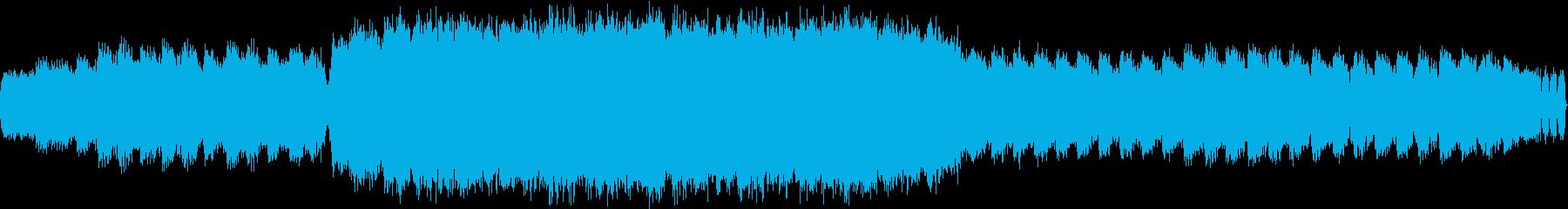 宇宙のイメージの瞑想用音楽の再生済みの波形