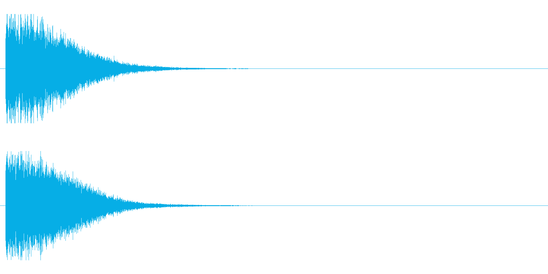 レーザー音-148-1の再生済みの波形