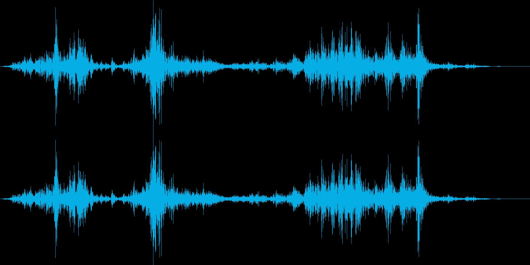 カメラのシャッター音の再生済みの波形