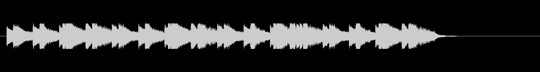 切ない雰囲気のピアノソロ オープニングの未再生の波形
