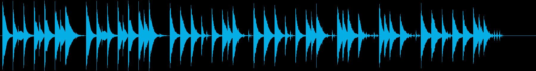 木琴がメインでほのぼのとした短めの曲の再生済みの波形