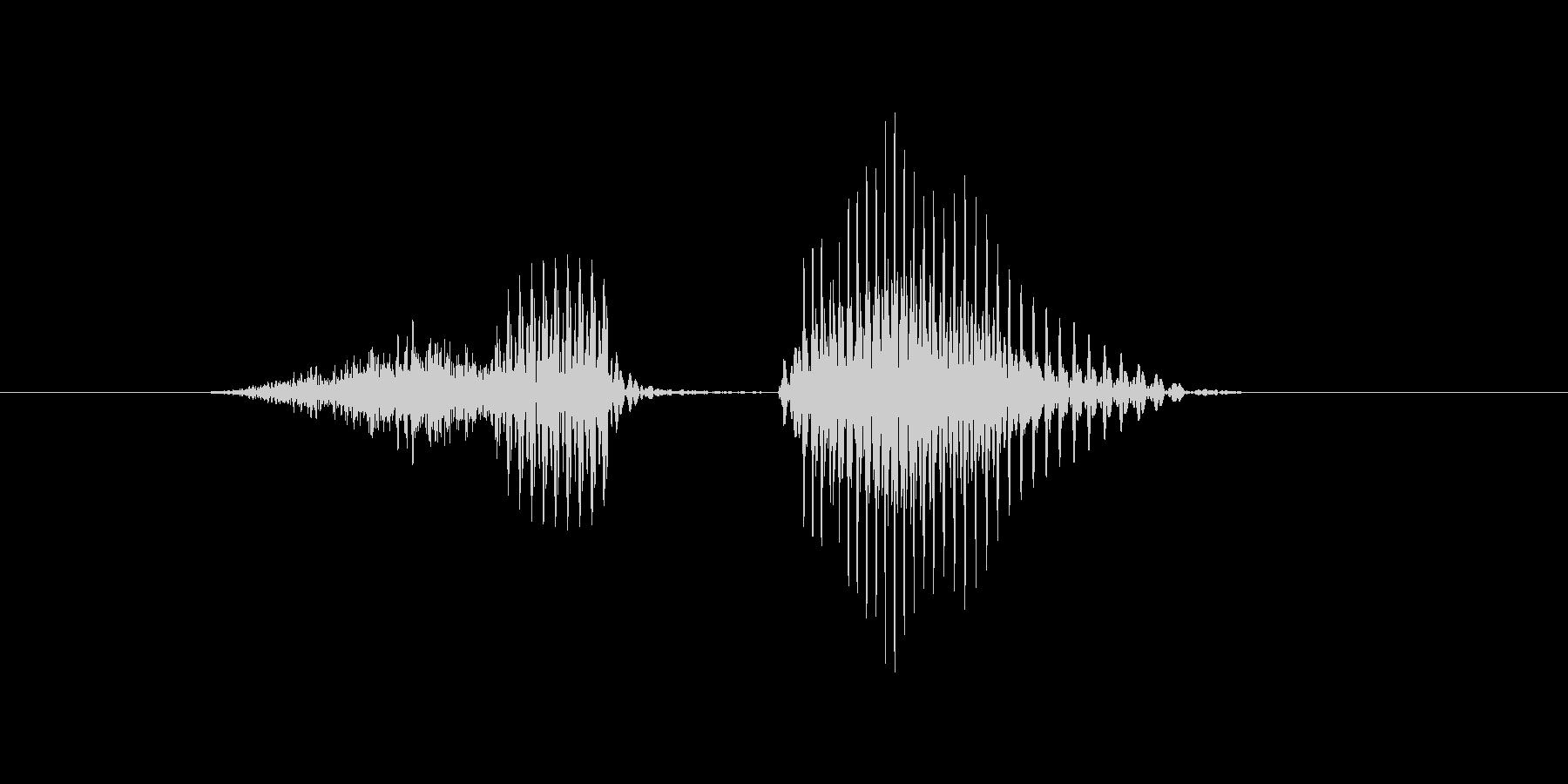 スピンの未再生の波形