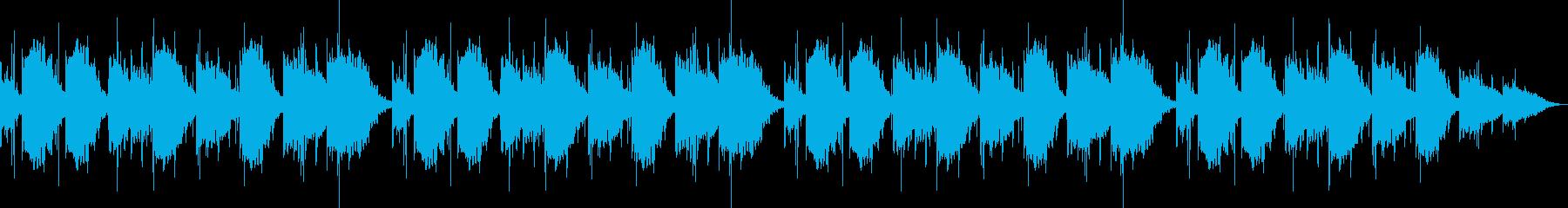 広告音楽。テレビの背景音楽の再生済みの波形
