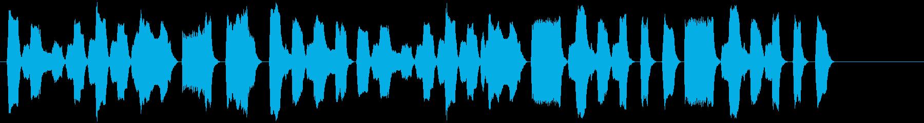 ピタゴラスイッチ風リコーダーBGMの再生済みの波形