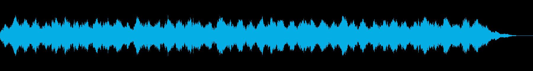 浮遊感漂う環境音楽の再生済みの波形