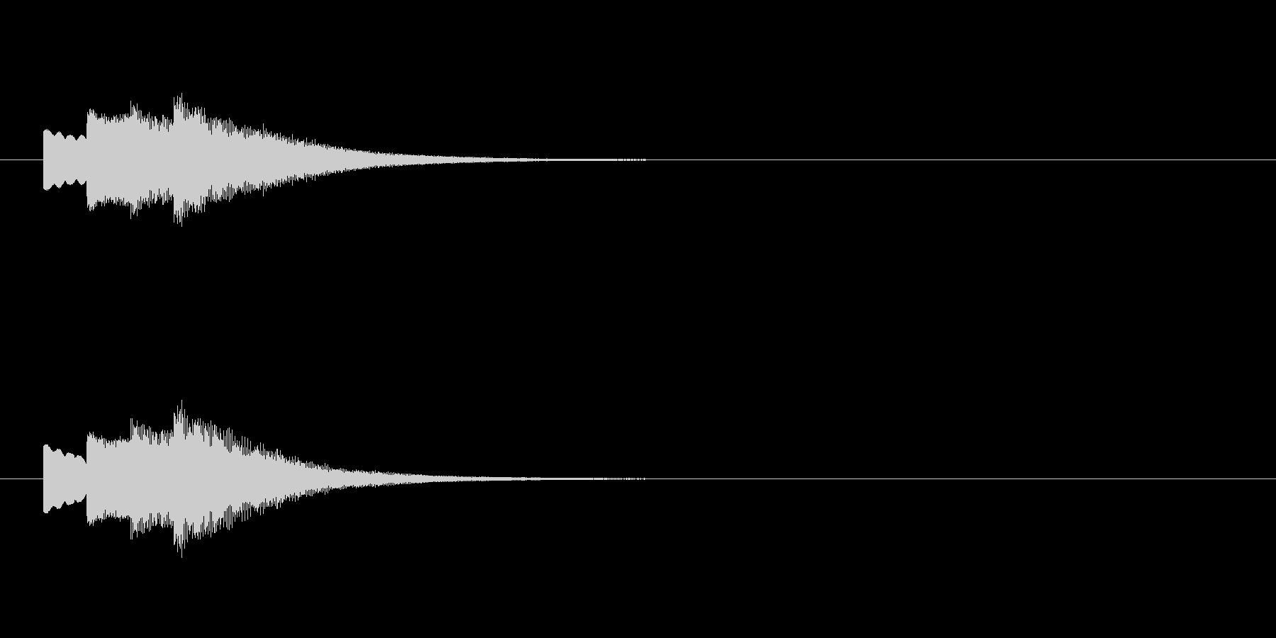 お知らせの合図、ピンポン、下降の未再生の波形