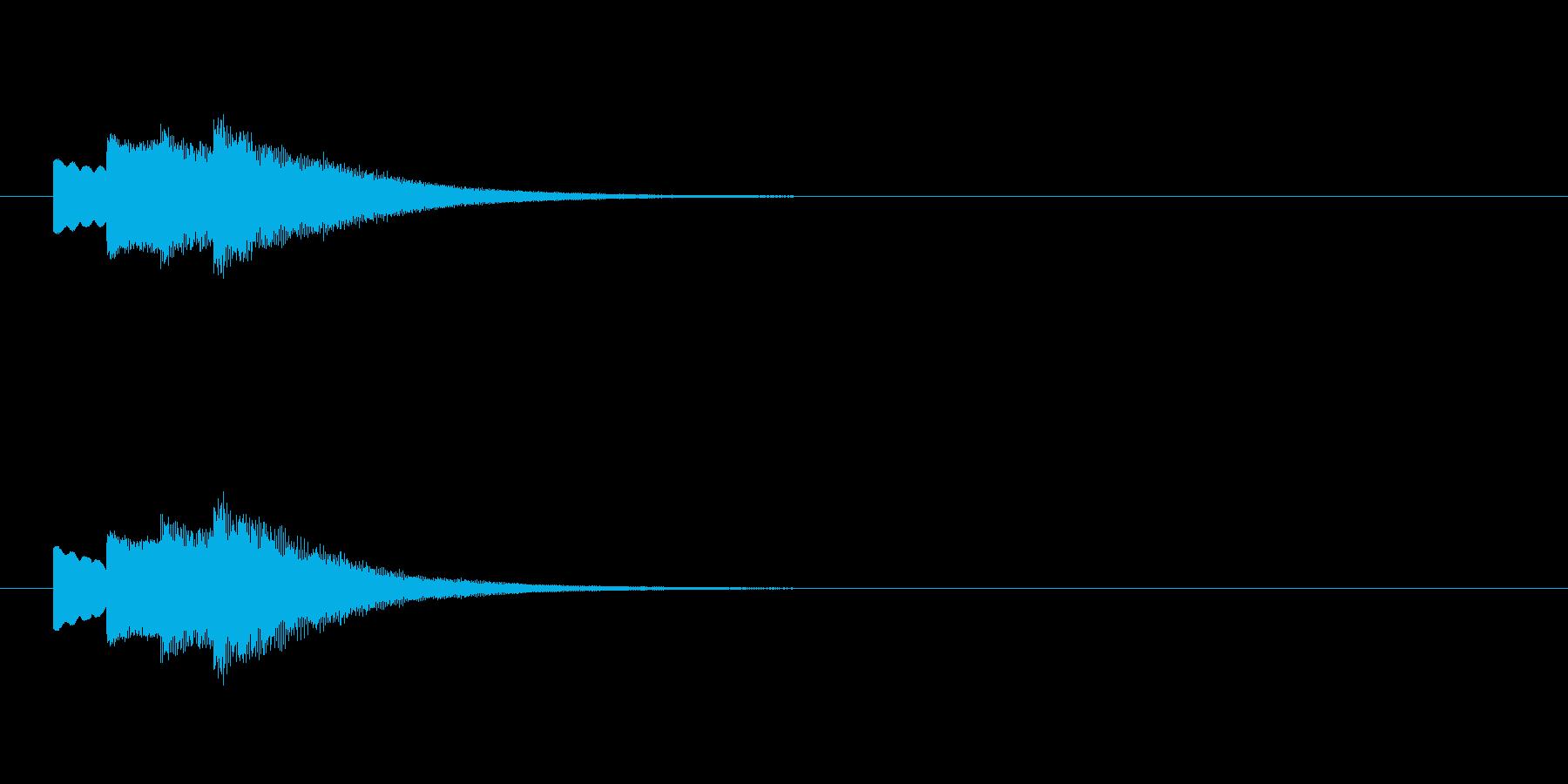 お知らせの合図、ピンポン、下降の再生済みの波形