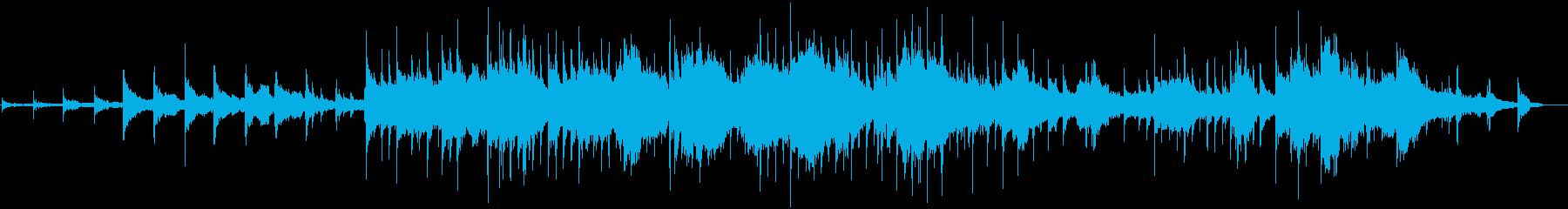 幻想的で癒されるヒーリングミュージックの再生済みの波形