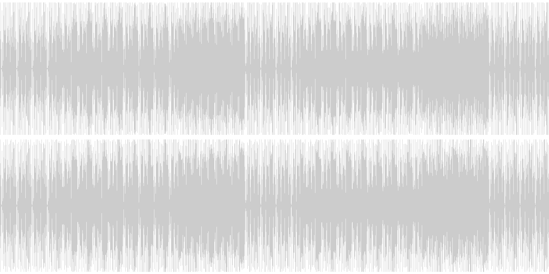 明るくファンキーだが少し切ないエレクトロの未再生の波形