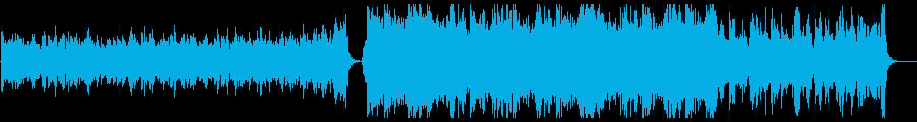 壮大でシネマチックなオーケストラのBGMの再生済みの波形