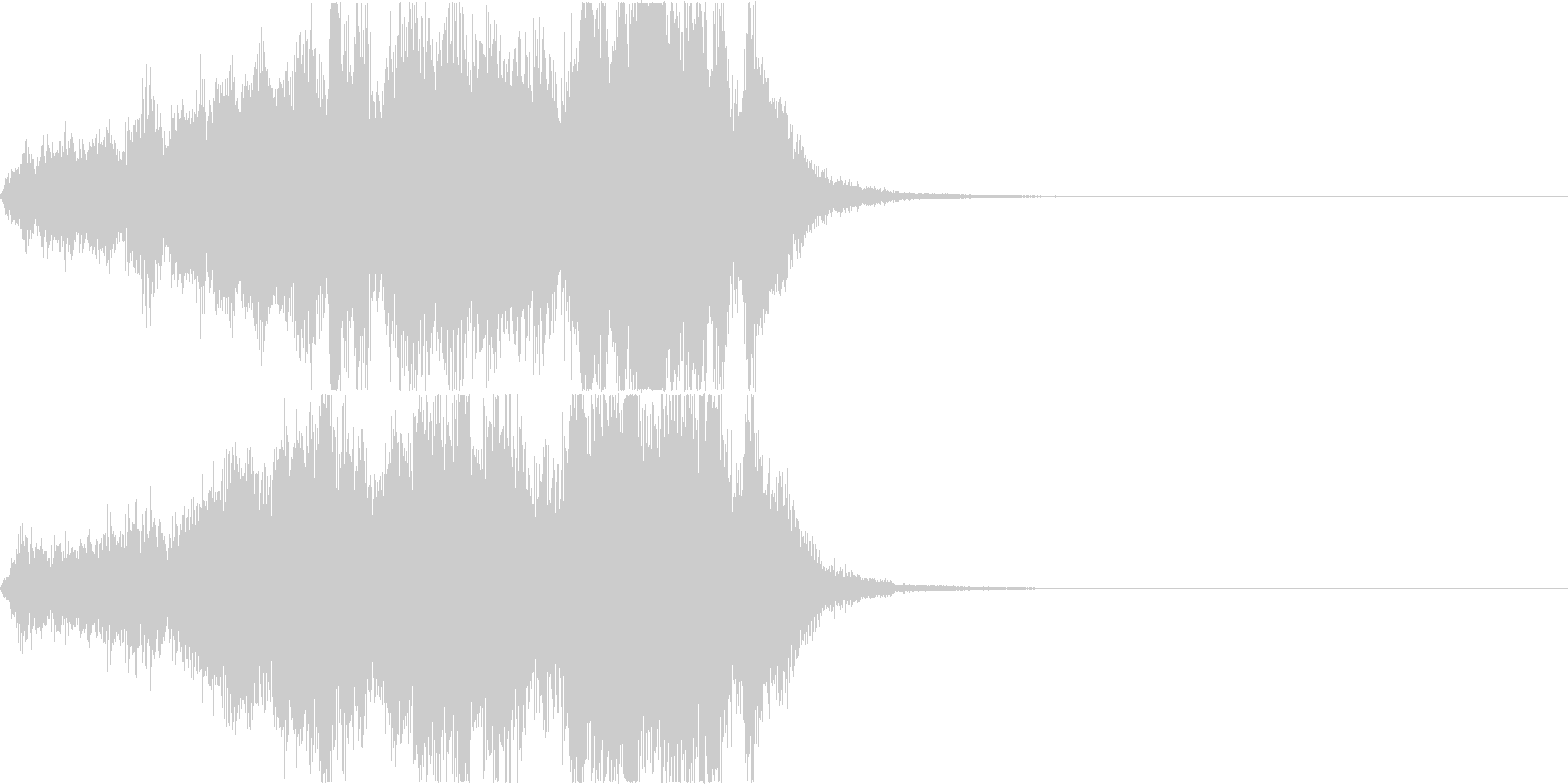オーケストラによるファンファーレの未再生の波形
