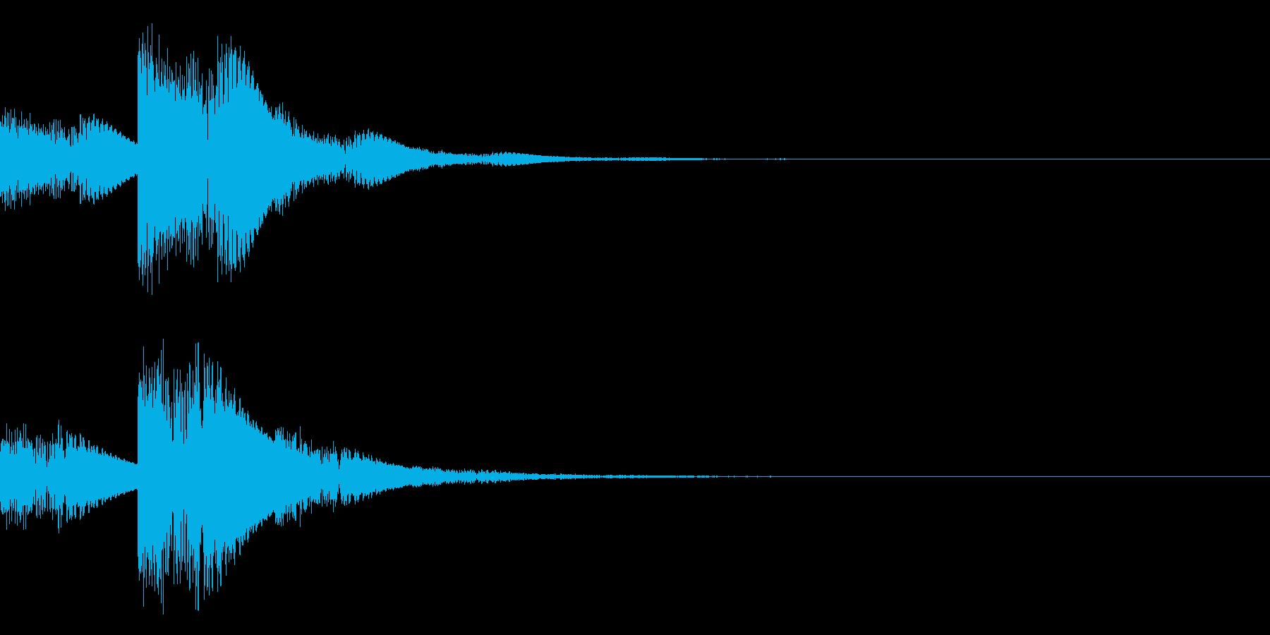 ジュ、ジュ、ジュワ・・・(電子系)の再生済みの波形