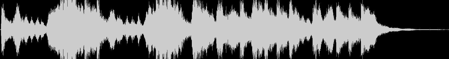 華やかに祝福するイメージのジングルの未再生の波形
