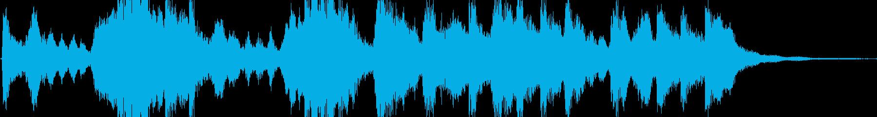 華やかに祝福するイメージのジングルの再生済みの波形