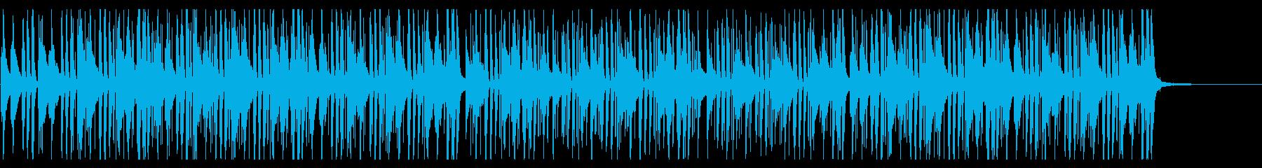 ギターとピアノにドラムが絡むジャズビートの再生済みの波形