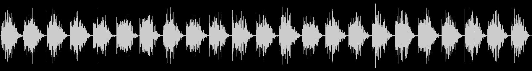 一定のスローメタリックハートビートヒットの未再生の波形