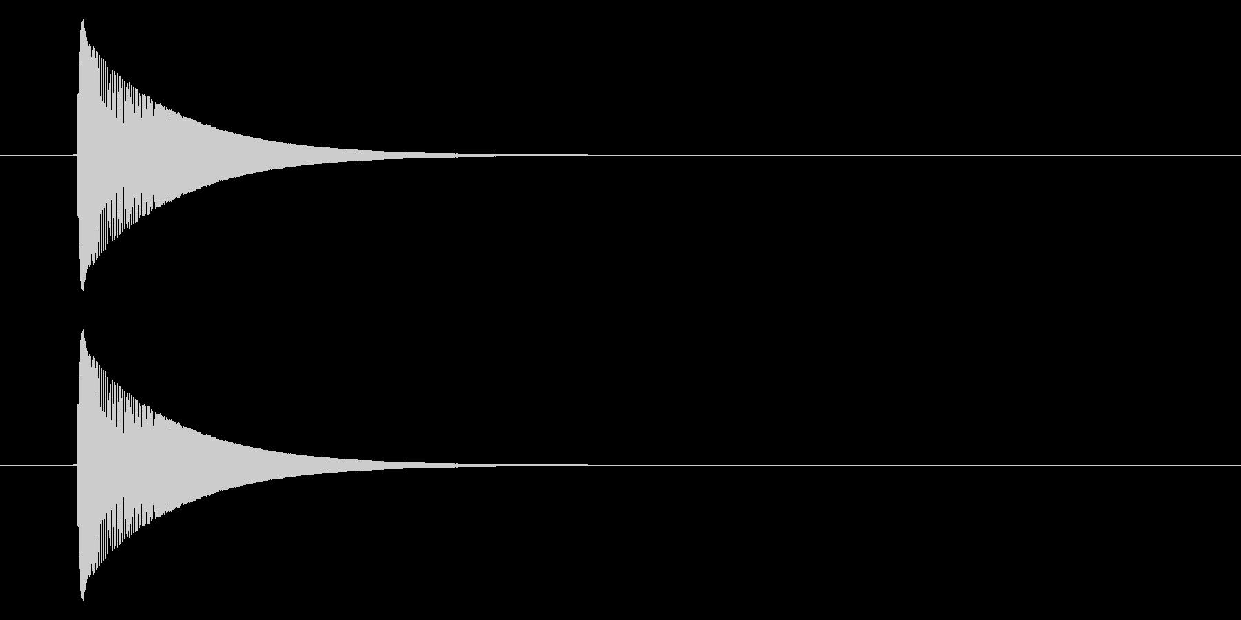 カーソル移動音_軽めの決定音の未再生の波形