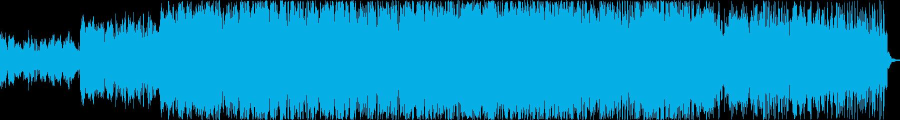 希望に満ち溢れているBGMの再生済みの波形