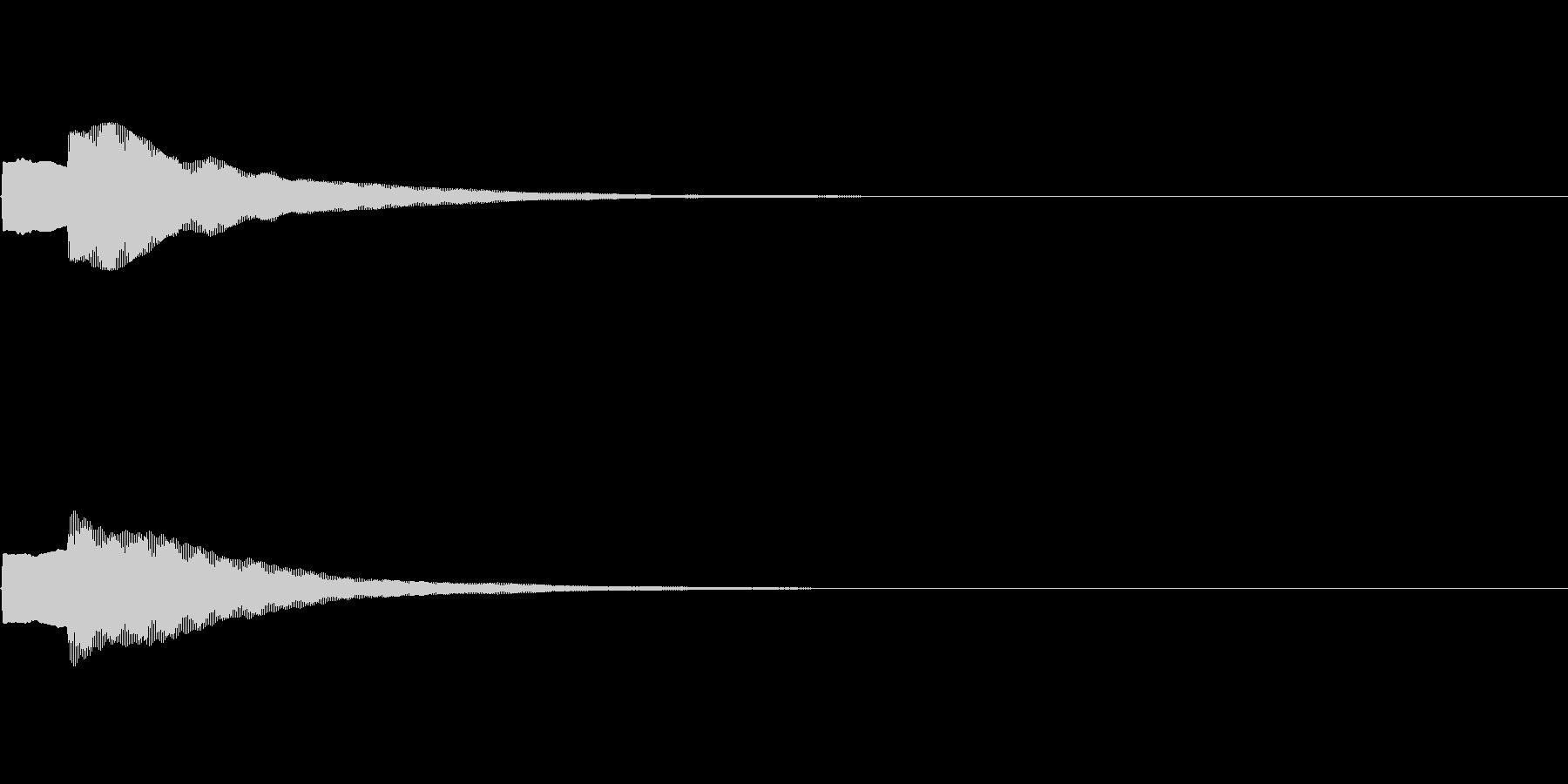 ピンポン という感じの効果音 クイズ用の未再生の波形