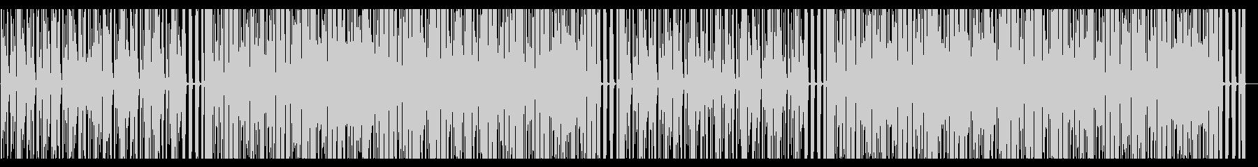 ビートが強めのオールドな雰囲気のBGMの未再生の波形