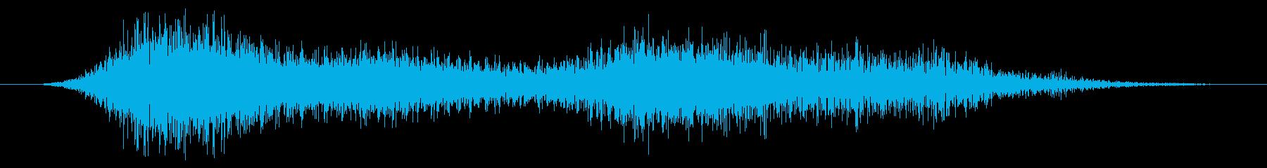 怖い悪魔の音の再生済みの波形