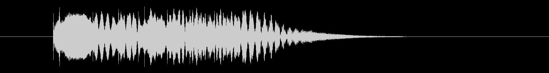 マリンバのグリッサンド(上行)の未再生の波形