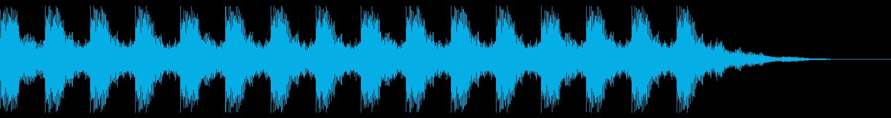 電子ホーン警告アラーム:常時、非常に残響の再生済みの波形