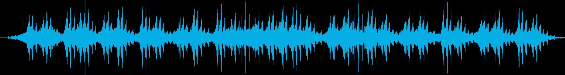 シリアスな印象のアンビエントBGMの再生済みの波形