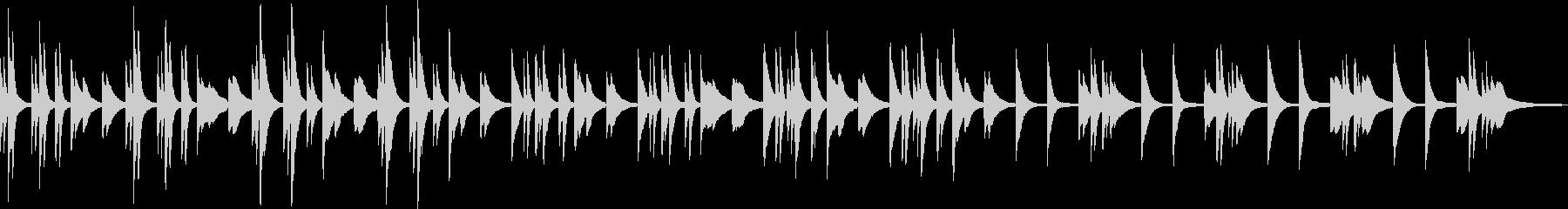 静けさを感じるソロピアノの未再生の波形