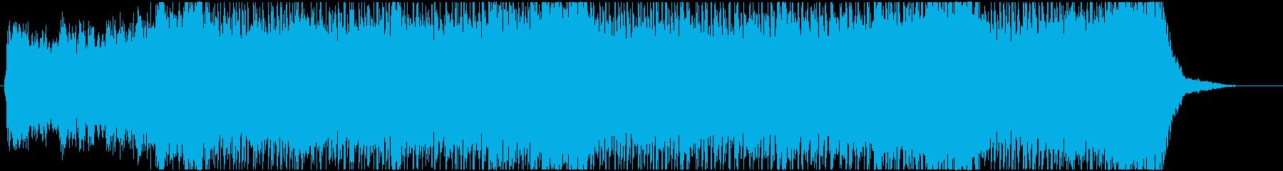 サスペンス系 不気味で激しい曲の再生済みの波形