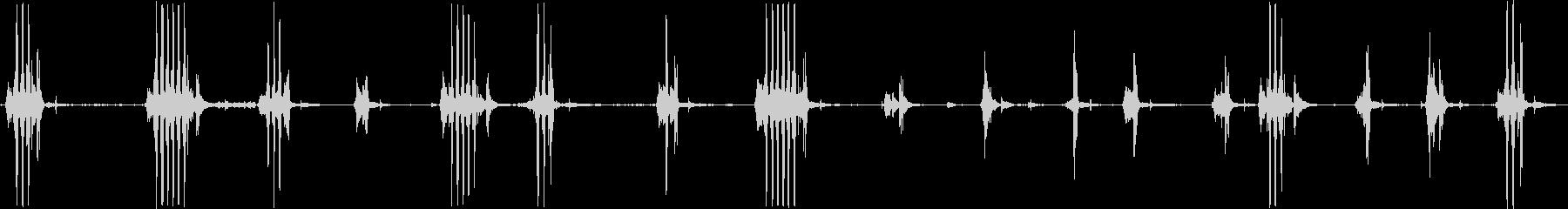 圧力鍋の未再生の波形