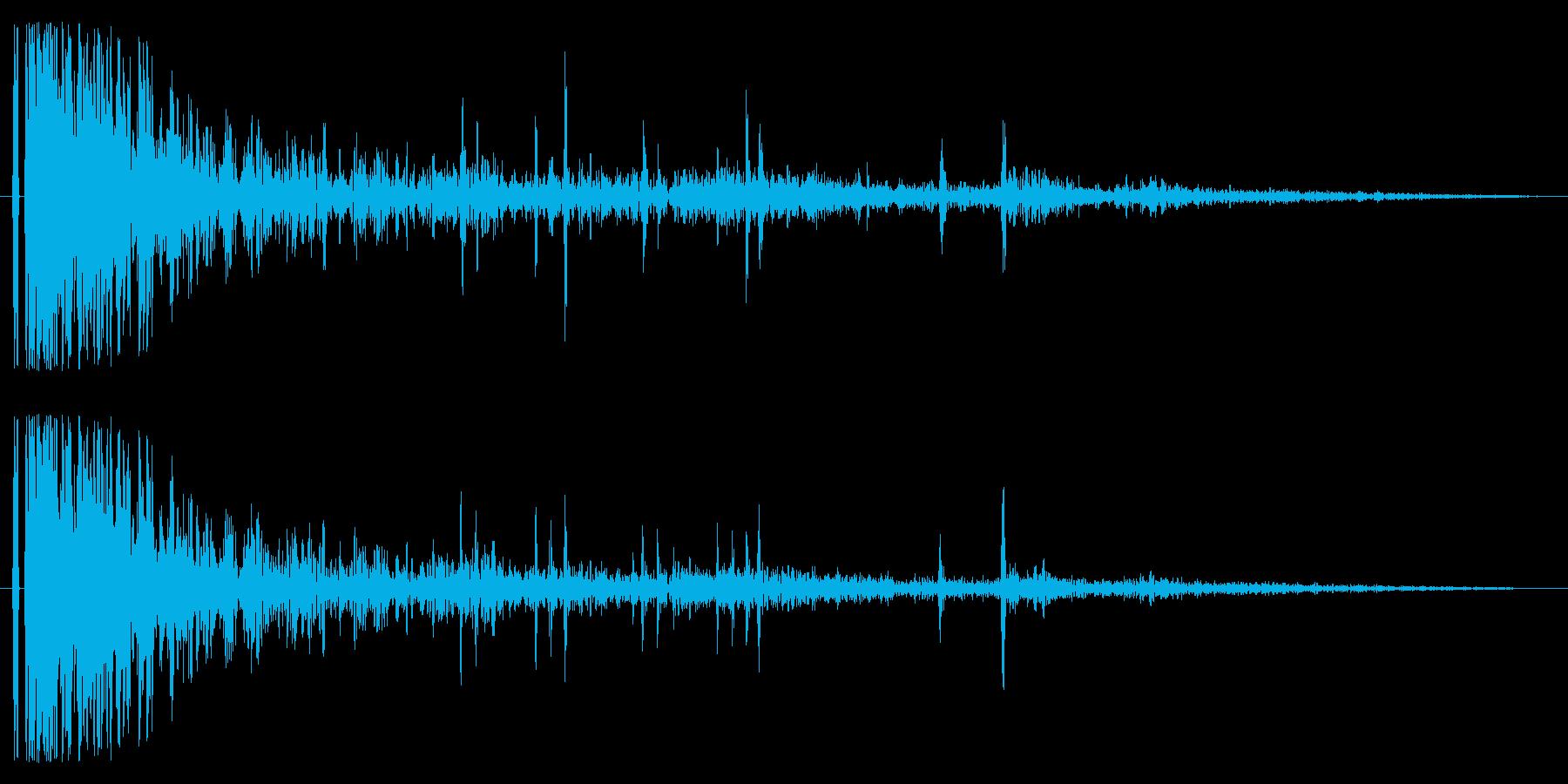 ドンパァ〜!本当にリアルな花火の効果音2の再生済みの波形